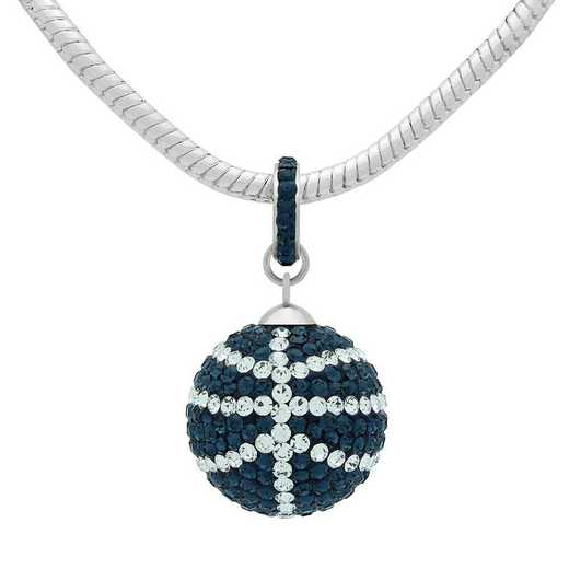 QQ-L-BB-N-MON-CRY: Game Time Bling Lrg Basketball Necklace -MON/CRY