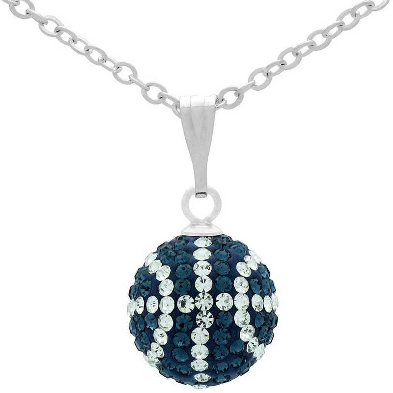 QQ-M-BB-N-MON-CRY: Game Time Bling Mini Basketball Necklace - MON/CRY