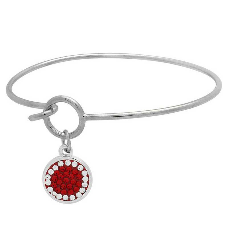 QQ-M-DANG-B-LTSIA-CRY: Game Time Bling Circular Dangle Bracelet -LTSIA/CRY (Red/CRY)