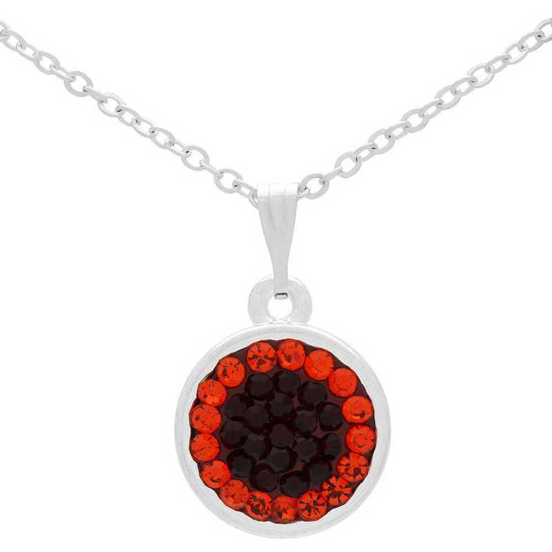 QQ-M-DANG-N-SIA-HYA: Circular Dangle Necklace - Siam/HYA