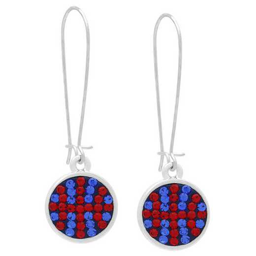 QQ-E-DANG-BB-SAP-LTSIA: Game Time Bling Basketball Dangle EarringsPr apphire/Lt Siam