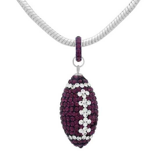 "QQ-L-FB-N-AME-CRY: Game Time Bling Lrg Football Ncklce 18"" -AME/CRY"