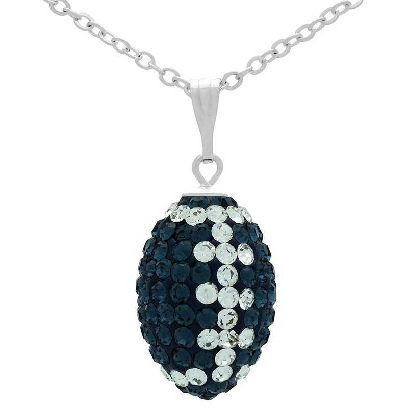 QQ-M-FB-N-MON-CRY: Game Time Bling Mini Football Necklace18