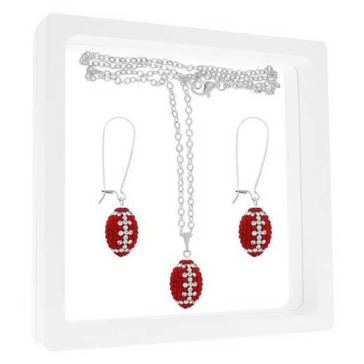 QQ-MINIFBSET-LTSIAM-CRY: Game Time Bling Mini Football NECK/ERRNG GFST - Lt Siam/CRY