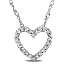 BAL000381: 1/10 CT TW Dmnd Heart NCK  14k White Gold