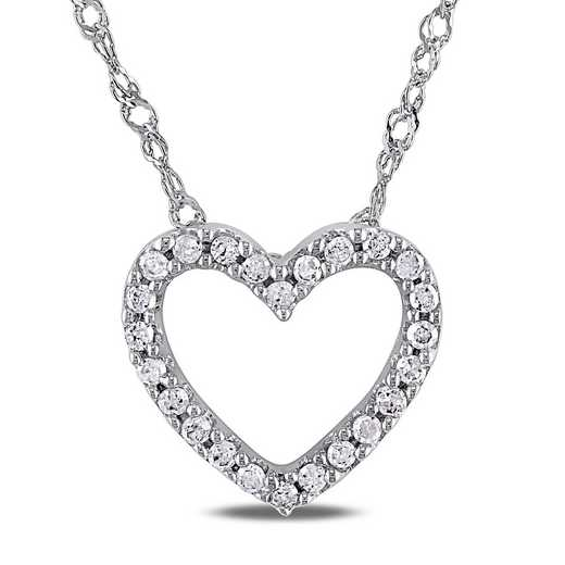BAL000381: 1/10 CT TW Dmnd Heart NCK  14k White Gold