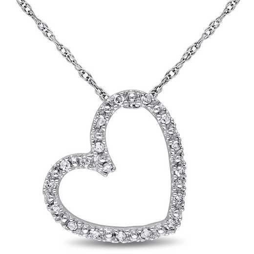 BAL000382: 1/10 CT TW Dmnd Heart NCK  10k White Gold