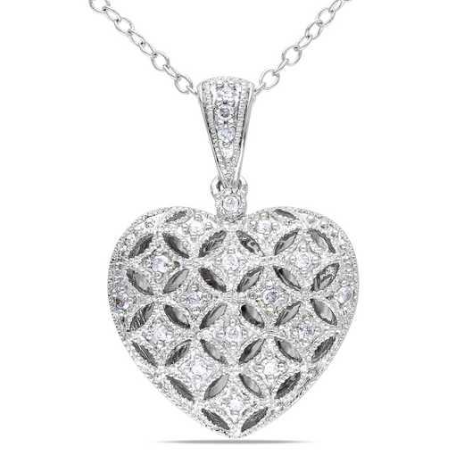 BAL000389: 1/7 CT TW Dmnd Heart Locket NCK  Sterlg SLV