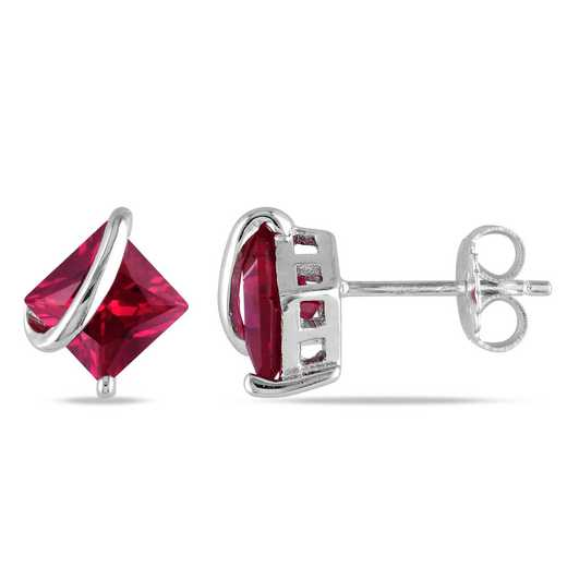 BAL000493:  Ruby Stud Earrings in Sterling Silver