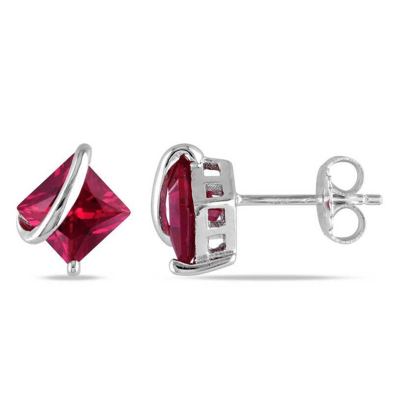 BAL000493:  Ruby Stud Earrings in Sterling Silver