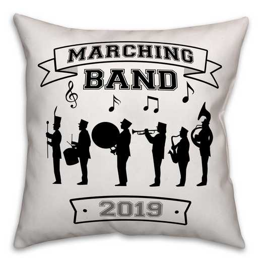 4627-AD: 18X18 Personalized Pillow Marchin Band