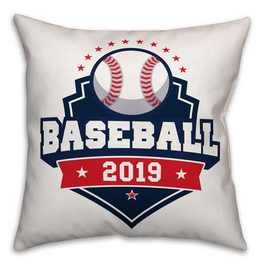 4627-AE: 18X18 Personalized Pillow- Baseball