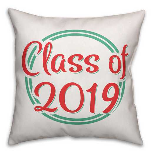 4627-A: 18X18 Personalized Pillow- Class of