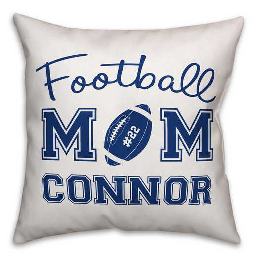 4627-B: 18X18 Personalized Pillow- Football Mom