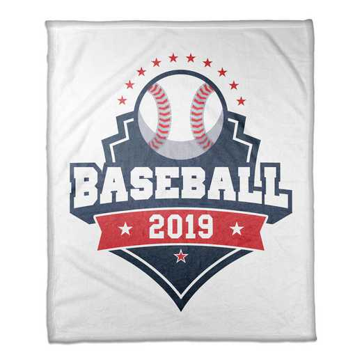 4627-H: 50x60 Throw Personalized - Baseball