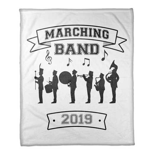 4627-P: 50x60 Throw Personalized - Marching Band