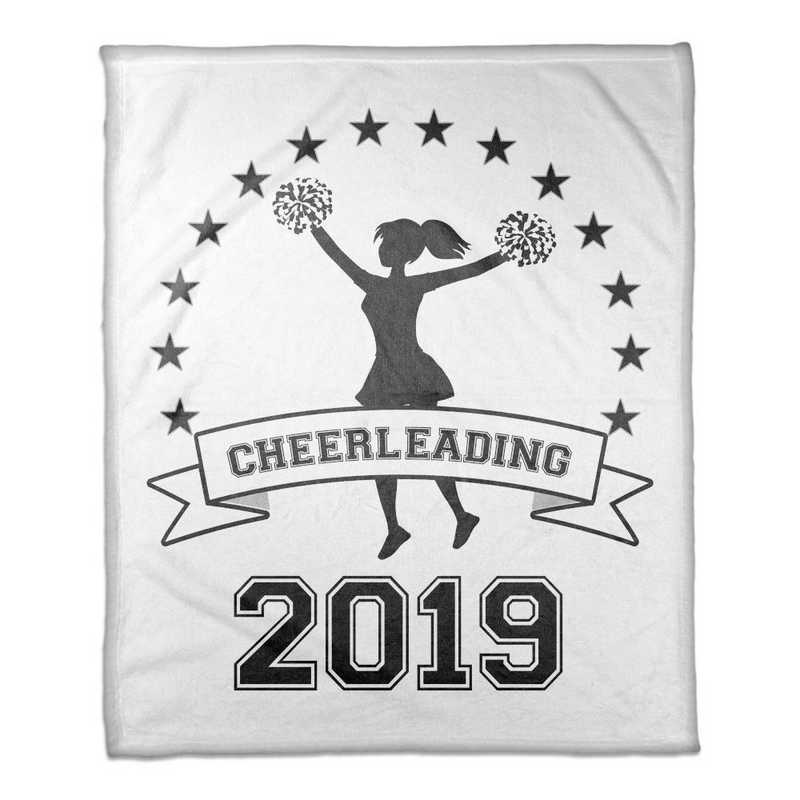 4627-J: 50x60 Throw Personalized - Cheerleading