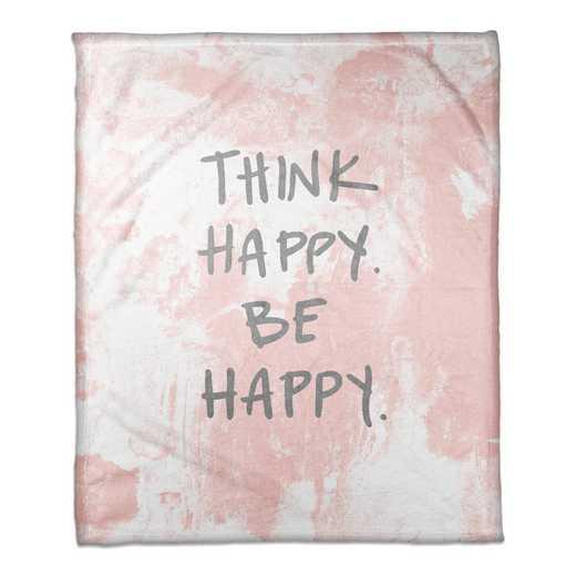4547-AH: 50X60 Throw Think Happy Be Happy