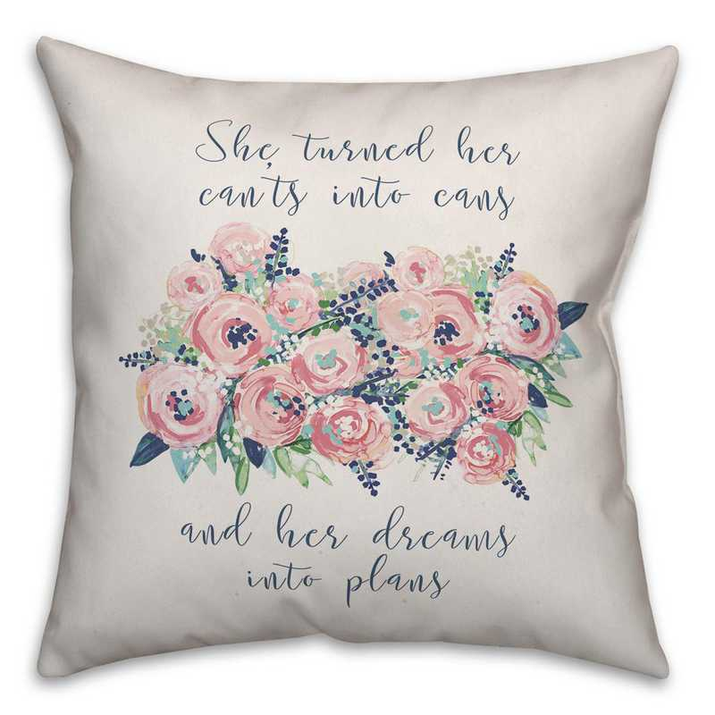 5472-A: DD FLORAL CANTS CANS PILLOW 18X18