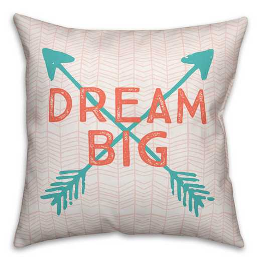 3963-S: 18X18 Pillow Dream Big