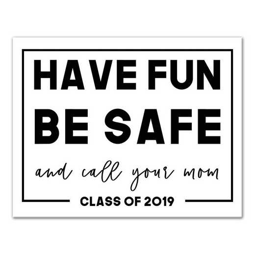5505-E: DD GHAVE FUN BE SAFE CANVAS 14X11