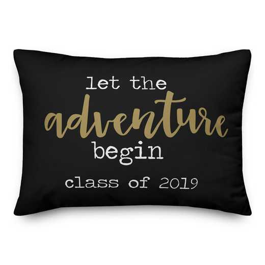 5472-L: DD LET THE ADV BEGIN PILLOW 14X20