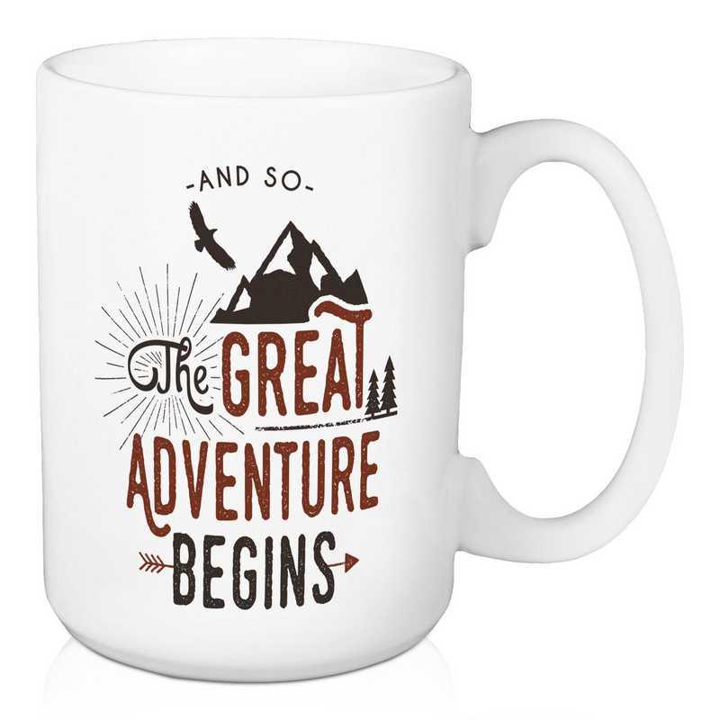 Mug- The great adventure begins: Unisex