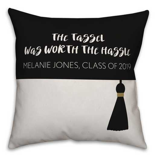 5472-I: DD TASSLE WORTH PILLOW 18X18