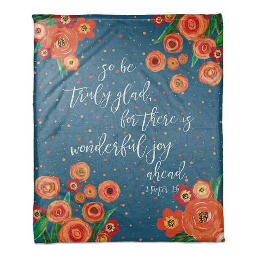 5472-S: DD WONDERFUL JOY AHEAD THROW 50X60