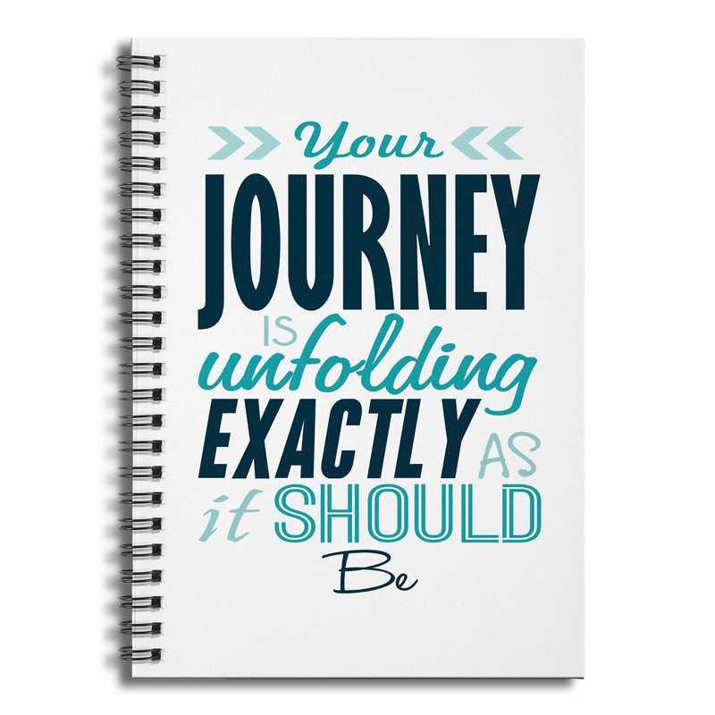 4628-AV: Youre Journey is Unfolding exactlyasItShould Notebook