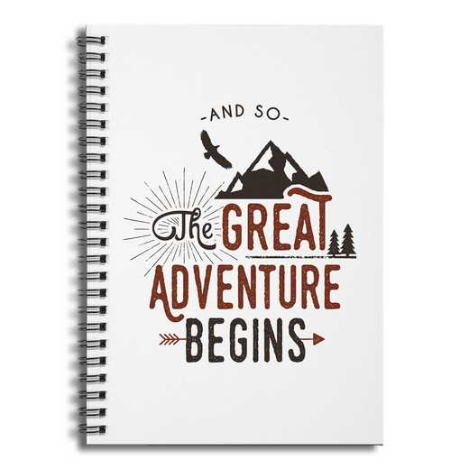 4628-BB: The Great Adventures Begin Notebook