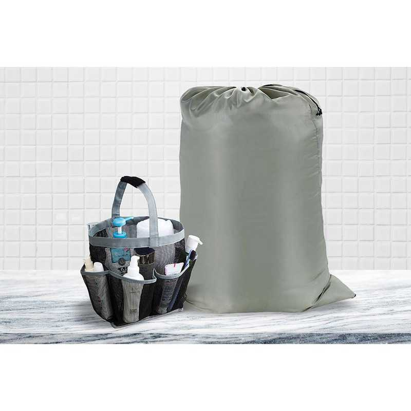 TUSK College Dorm Storage - Super Jumbo Laundry Bag and Deluxe Mesh Shower Tote