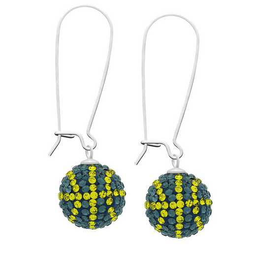QQ-E-BB-MON-CIT: Game Time Bling Basketball Earrings - MON/Citrine
