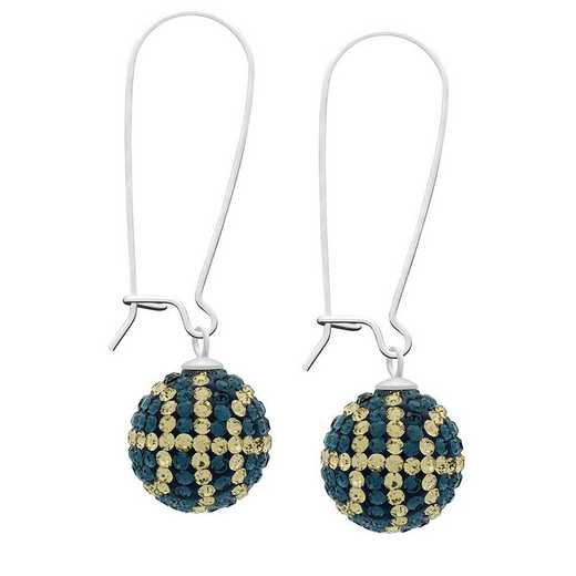 QQ-E-BB-MON-LCT: Game Time Bling Basketball Earrings - MON/Lt CT
