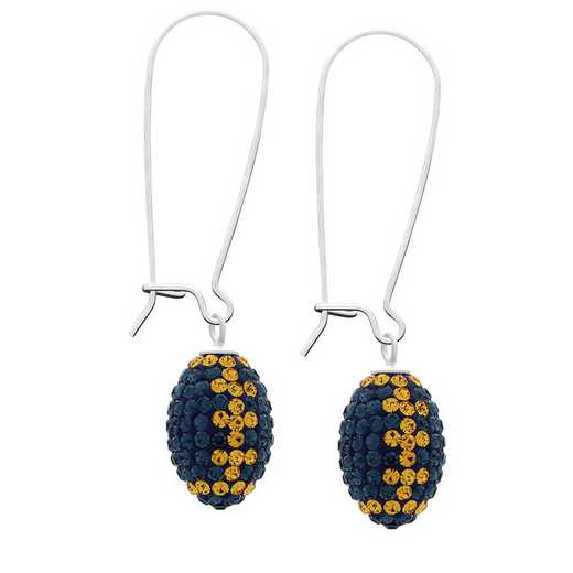 QQ-E-FB-MON-TOP: Football Earrings - MON/Topaz
