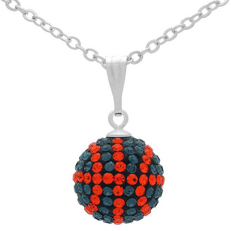 QQ-M-BB-N-MON-HYA: Game Time Bling Mini Basketball Necklace - MON/HYA