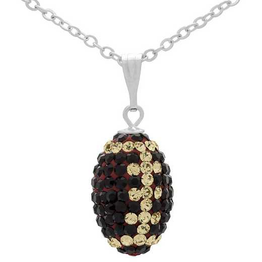 "QQ-M-FB-N-SIA-LCT: Mini Football Necklace18"" - Siam/Lt CT"