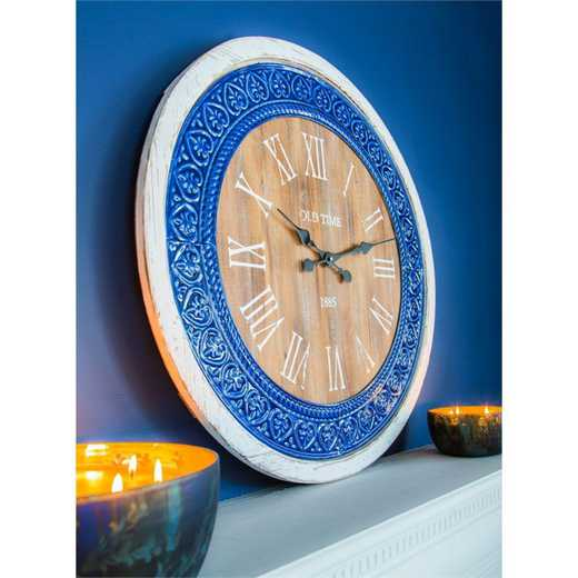 6CL123: EG Blue and White Wall Clock