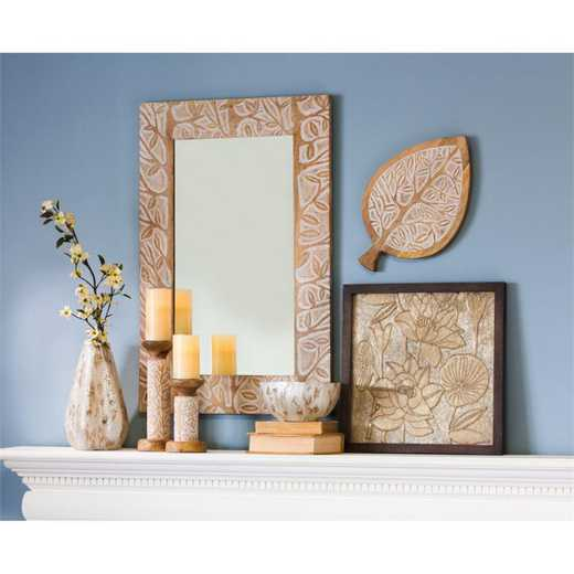 6MRM079: EG Hand Carved Mango Wood Mirror