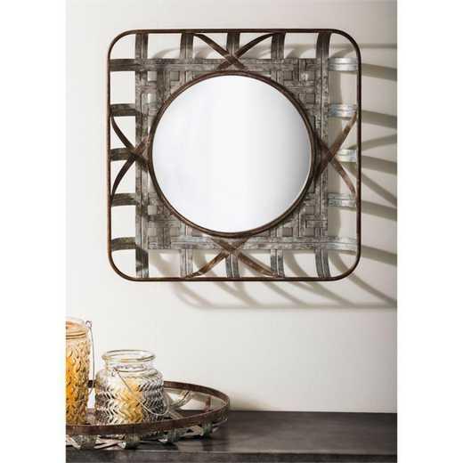 6MRM101: EG Tobacco Basket Mirror