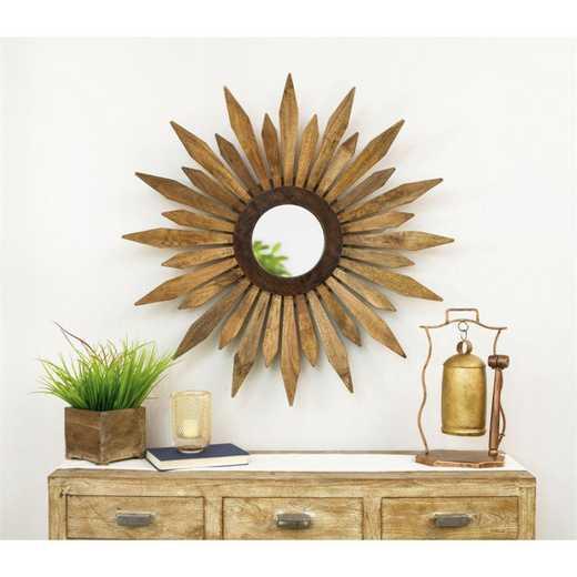 6MRW051: EG Wooden Flower Mirror