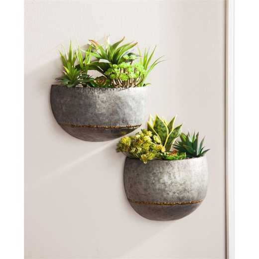 8PMTL053: EG Set of 2 Wall Planters