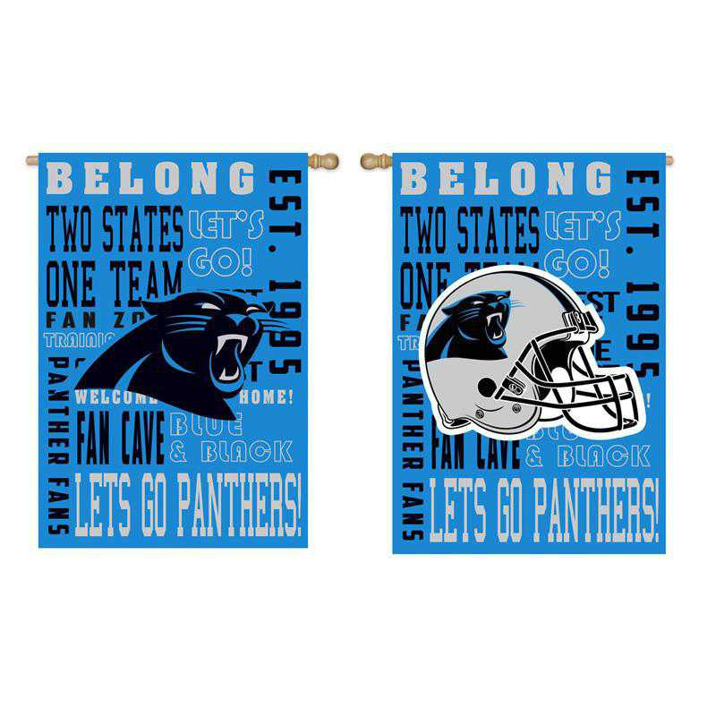 13ES3804FR: EG Fan Rules Flag' Carolina Panthers