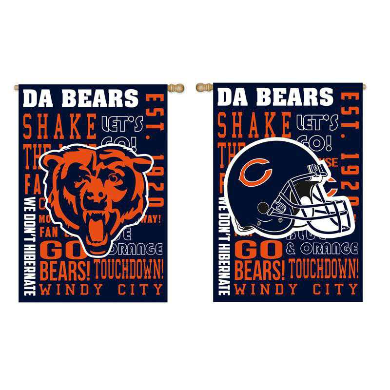 13ES3805FR: EG Fan Rules Flag' Chicago Bears