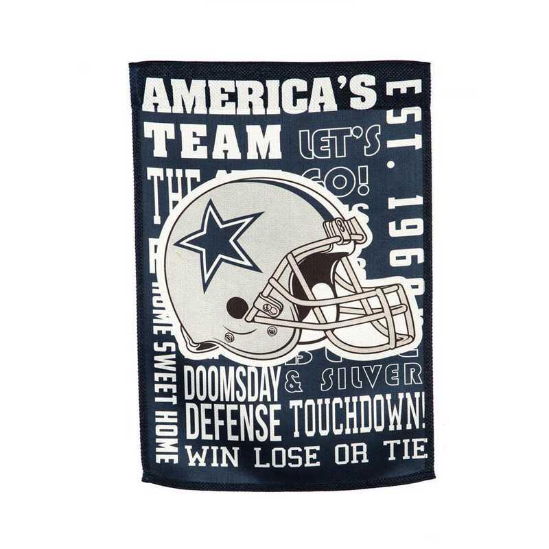 13ES3808FR: EG Fan Rules Flag' Dallas Cowboys