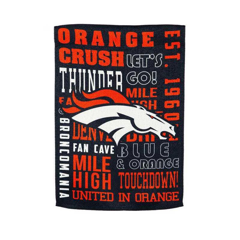 13ES3809FR: EG Fan Rules Flag' Denver Broncos