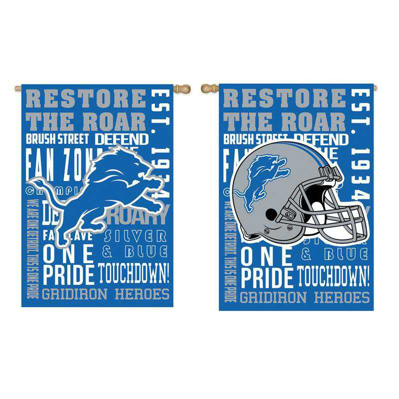 13ES3810FR: EG Fan Rules Flag' Detroit Lions