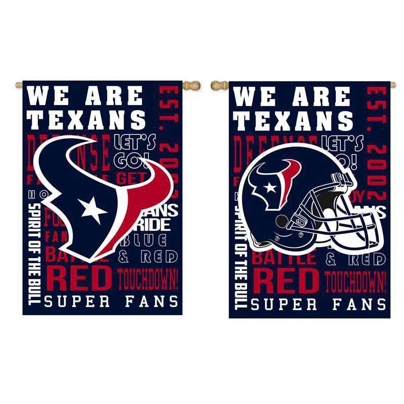 13ES3812FR: EG Fan Rules Flag' Houston Texans