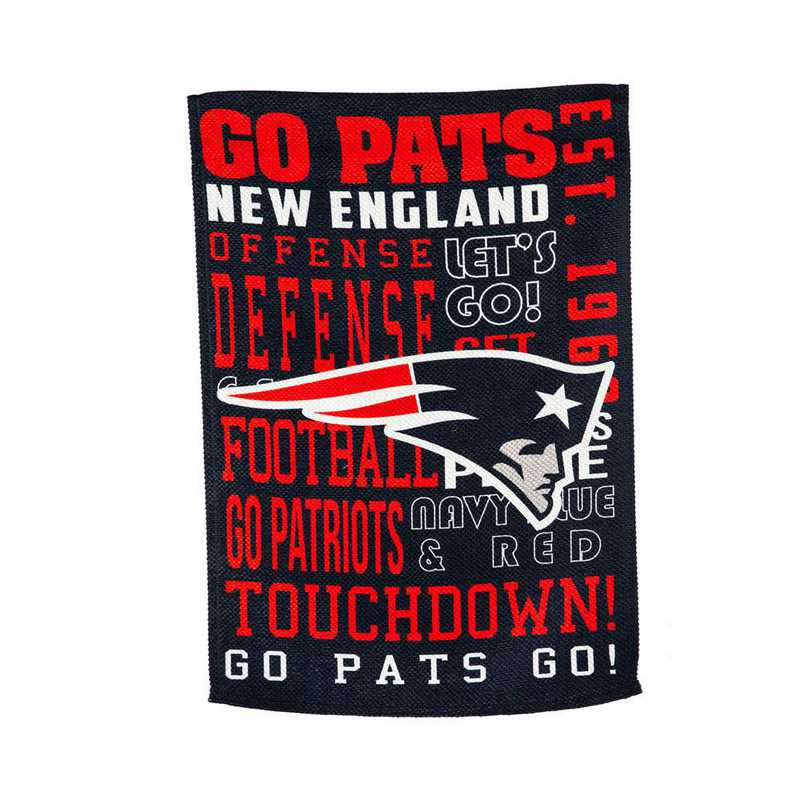 13ES3818FR: EG Fan Rules Flag' New England Patriots