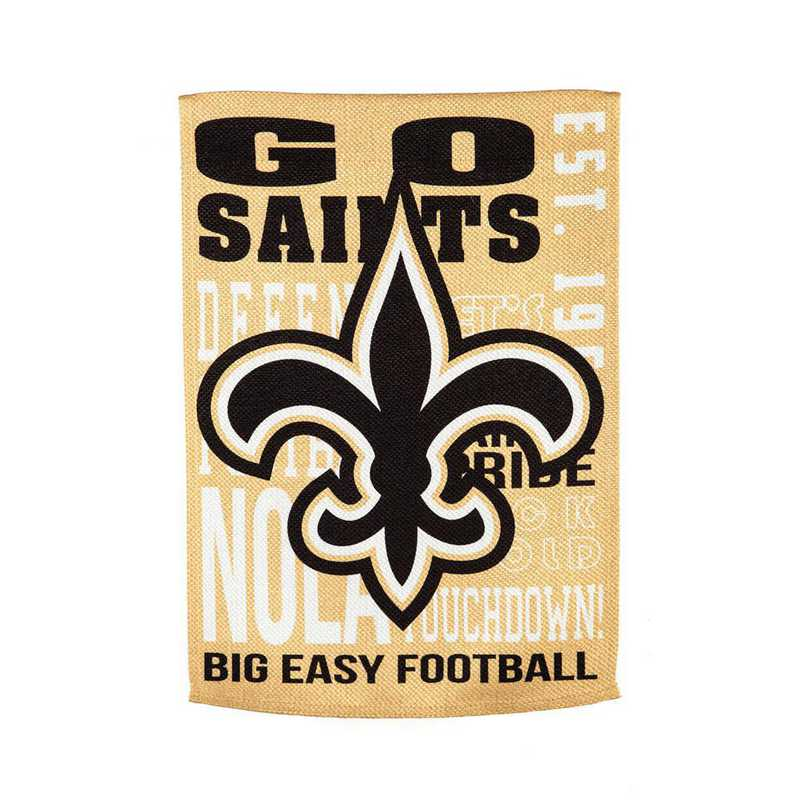 13ES3819FR: EG Fan Rules Flag' New Orleans Saints